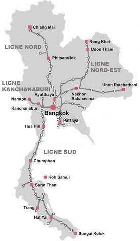 Carte Ferroviaire Thailande.Trains En Thailande Reservation En Ligne
